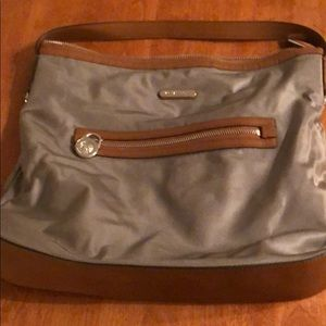 Michael Kors Taupe and Leather Pocketbook